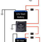 charging 6 volt batteries in series with 12 volt charger 6 volt battery bank wiring diagram Auxiliary Battery Charging System Charging two batteries from one alternator Dual battery isolator Dual battery isolator wiring diagram Battery isolator wiring schematic