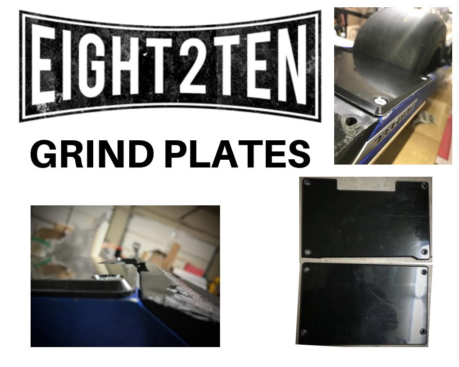 Eight2TEN Grind Plates onewheel rail guards onewheel float plates onewheel skid plates onewheel accessories onewheel sidekicks best onewheel accessories