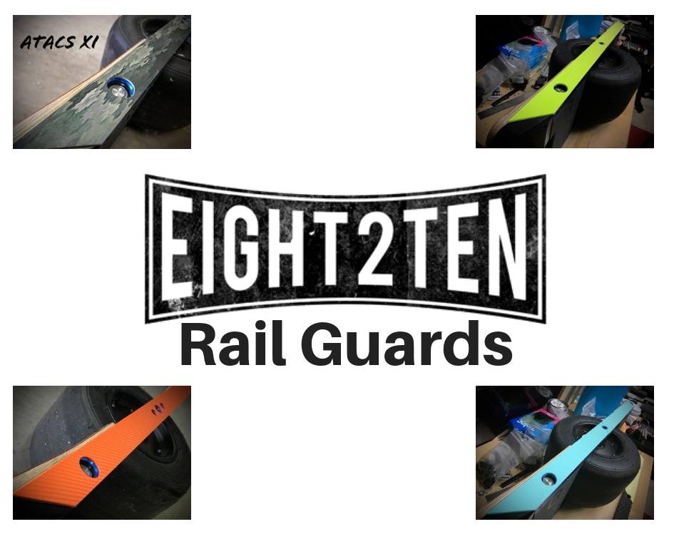 EIGHT2TEN Rail Guards onewheel rail guards onewheel float plates onewheel skid plates onewheel accessories onewheel sidekicks best onewheel accessories
