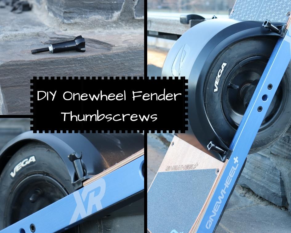 DIY Onewheel Fender Thumbscrews