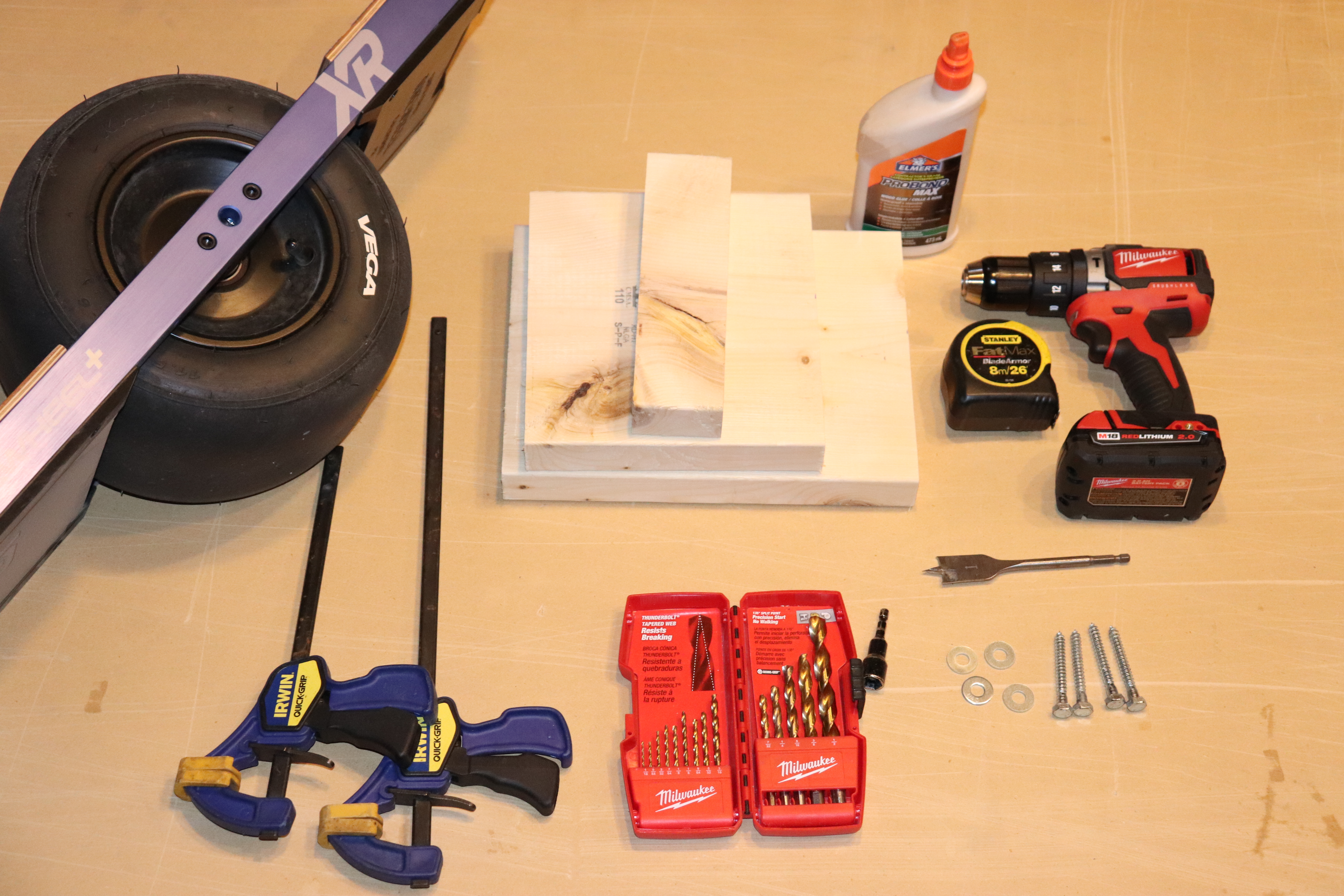 DIY Onewheel Stand Parts and Materials