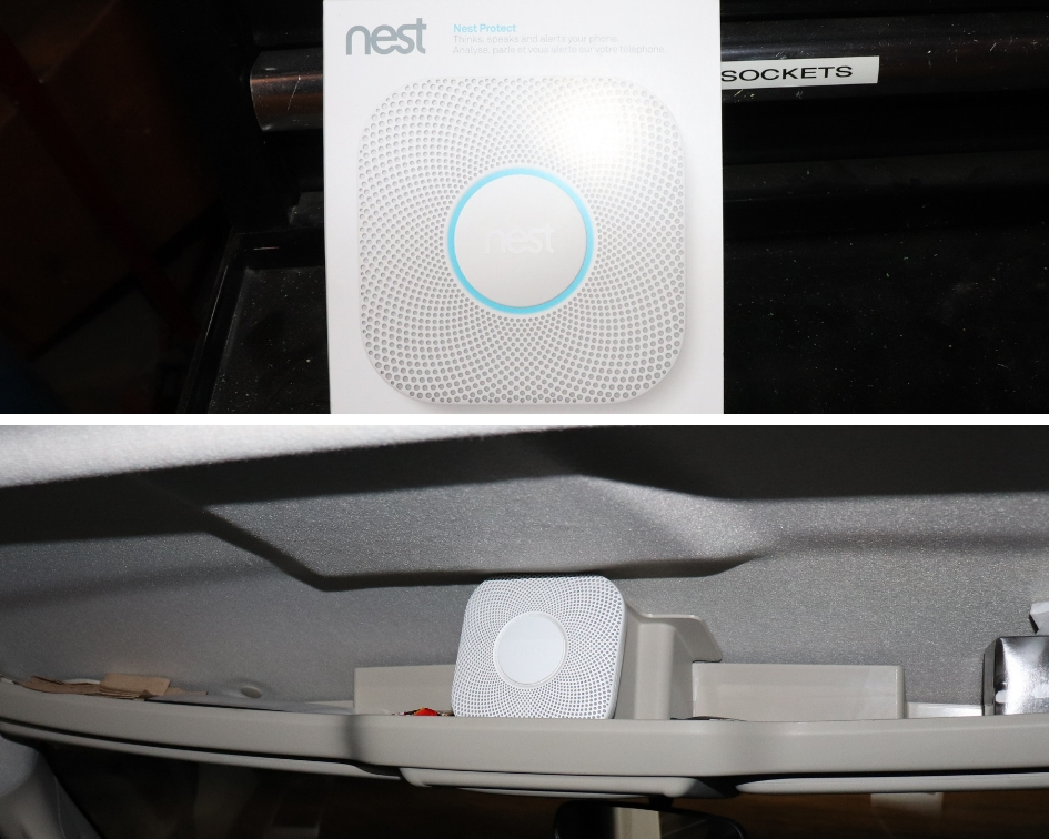 Picture of the installed Nest Alarm