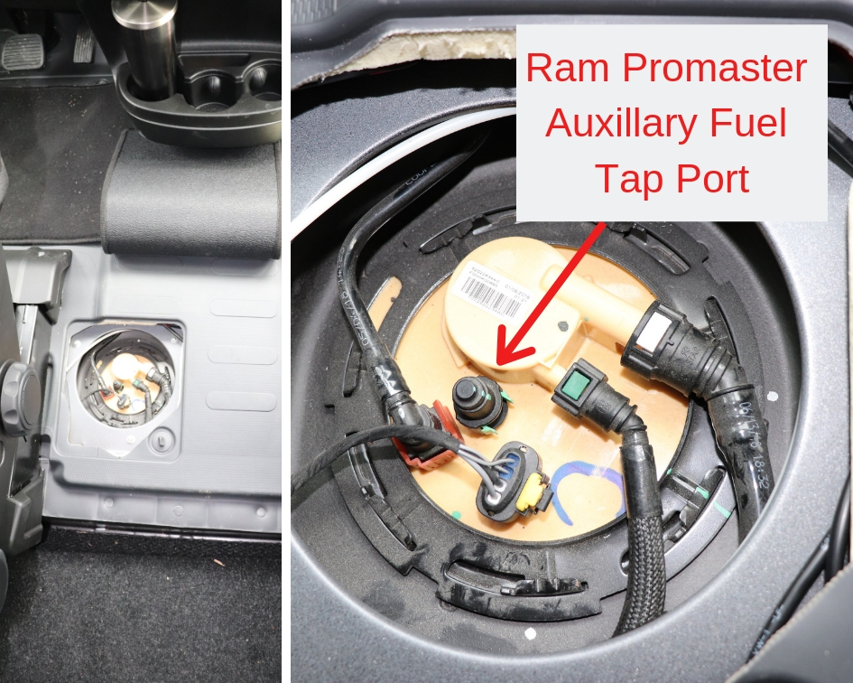 Ram Promaster Auxillary Fuel Tap Port Gasoline Parking Heater Installation Webasto Gasoline Heater Espar Eberspacher Gasoline Parking Heater